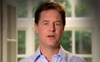 Nick Clegg says sorry