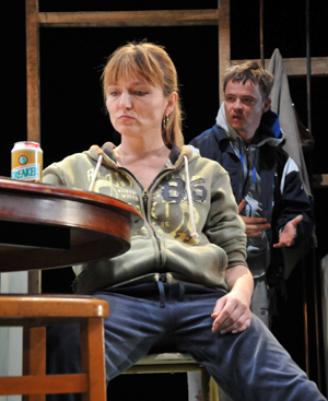 Julie Riley (Sonia) and Paul Simpson (Phillip). Photo by Gerry Murray