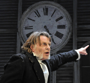 David Beames as Scrooge - photograph by Gerry Murray