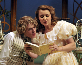 Algernon (Alex Felton) and Cecily (Florence Hall). Photo by Gerry Murray
