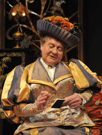 Lady Bracknell played by Russell Dixon. Photo by Gerry Murray