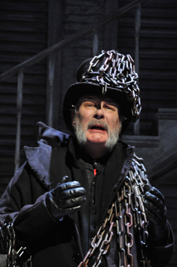 Claude Close as Jacob Marley - photograph by Gerry Murray