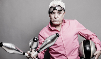 Dave Spikey: Juggling on a Motorbike