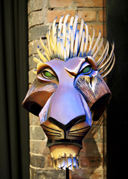 Lion King Scar Mask. Photo by Sara Porter.