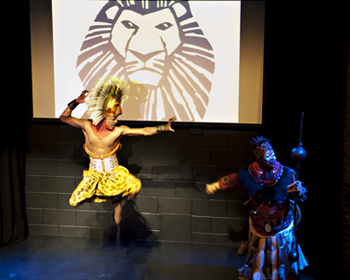 Lion King's Simba and Rafiki. Photo by Sara Porter.