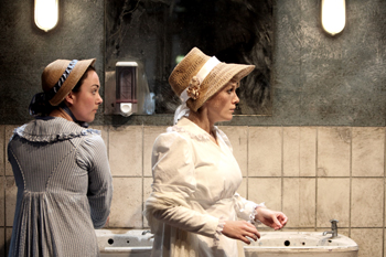 Rachel Austin (Jemima Bamford) and Janey Lawson (Mary Fildes). Photo by Kevin Cummins