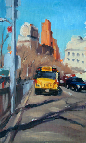 School Bus New York by Liam Spencer
