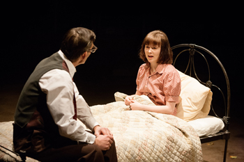 Atticus Finch (Nigel Cooke) and Scout Finch (Shannon Tarbet). Photo by Jonathan Keenan