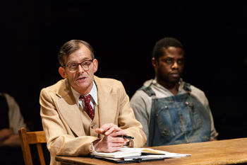 Atticus Finch (Nigel Cooke) and Tom Robinson (Okezei Morro). Photo by Jonathan Keenan