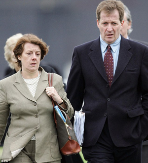 Labour peer Baroness Sally Morgan pictured with Alastair Campbell
